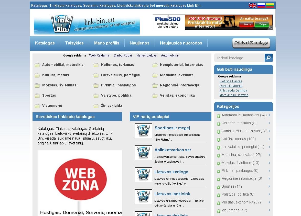 Tematinis lietuvisku tinklapiu katalogas