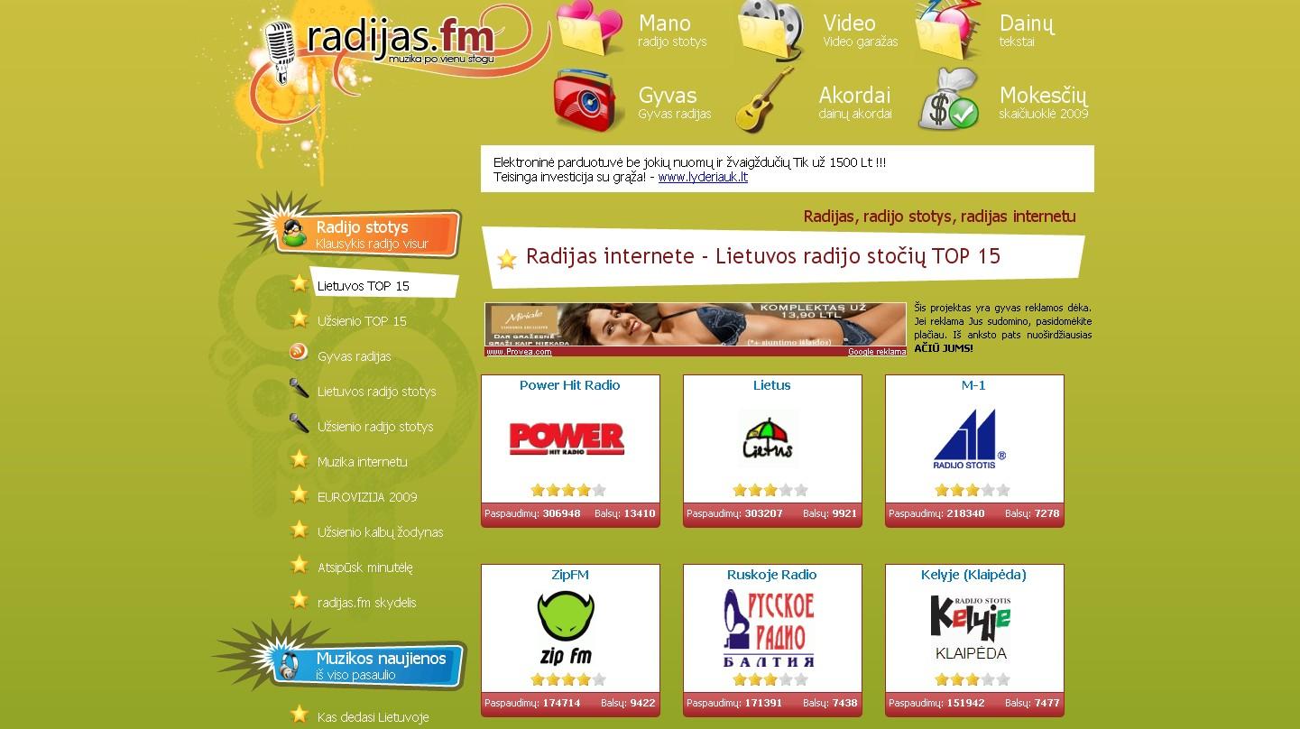 Radijas internetu