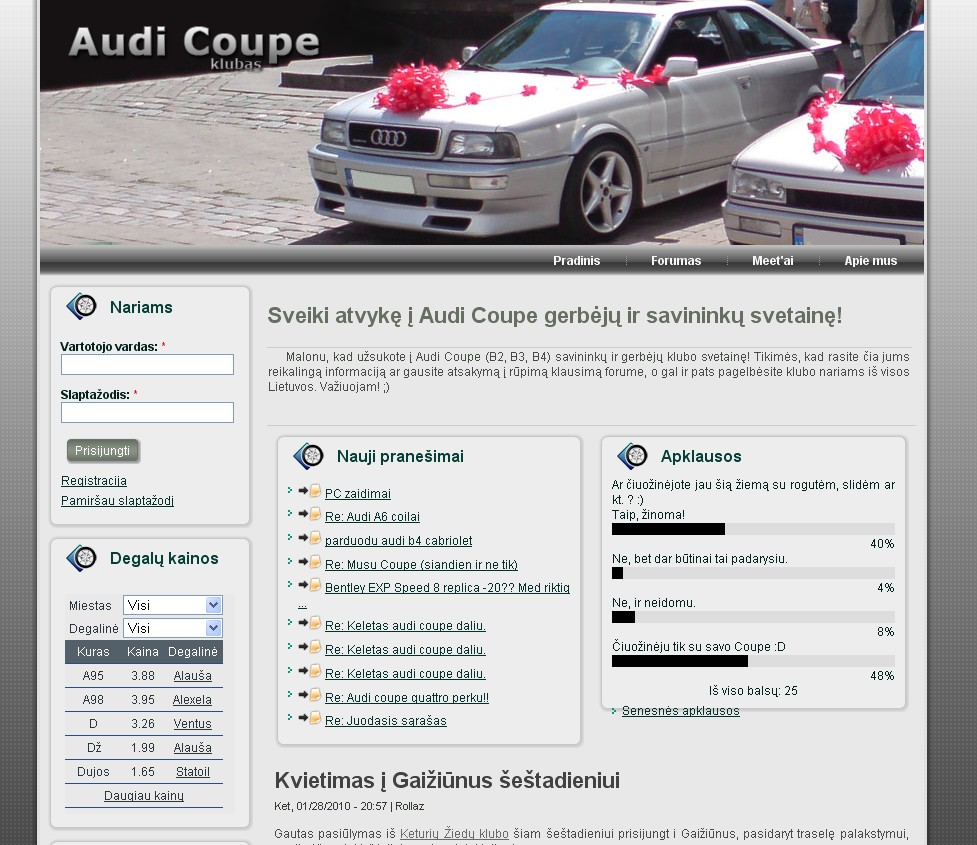 Audi Coupe klubas