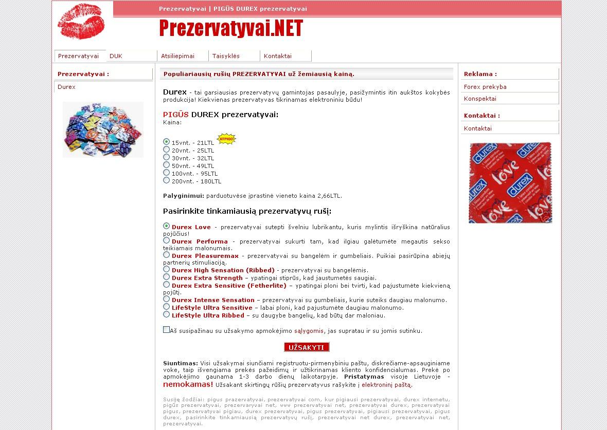 WWW.PREZERVATYVAI.NET