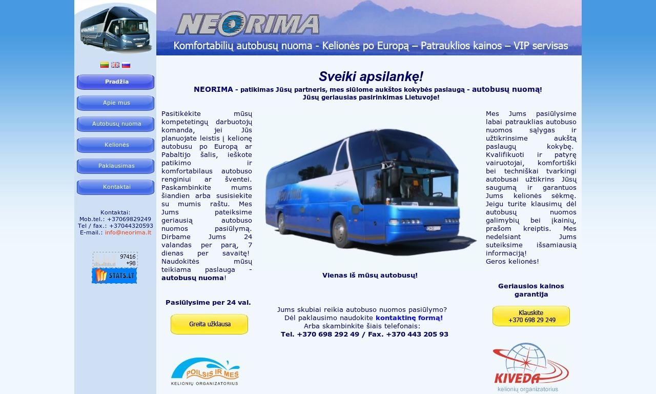 """UAB """"Neorima"""" - autobusų nuoma, autobusu nuoma, autobuso nuoma."""