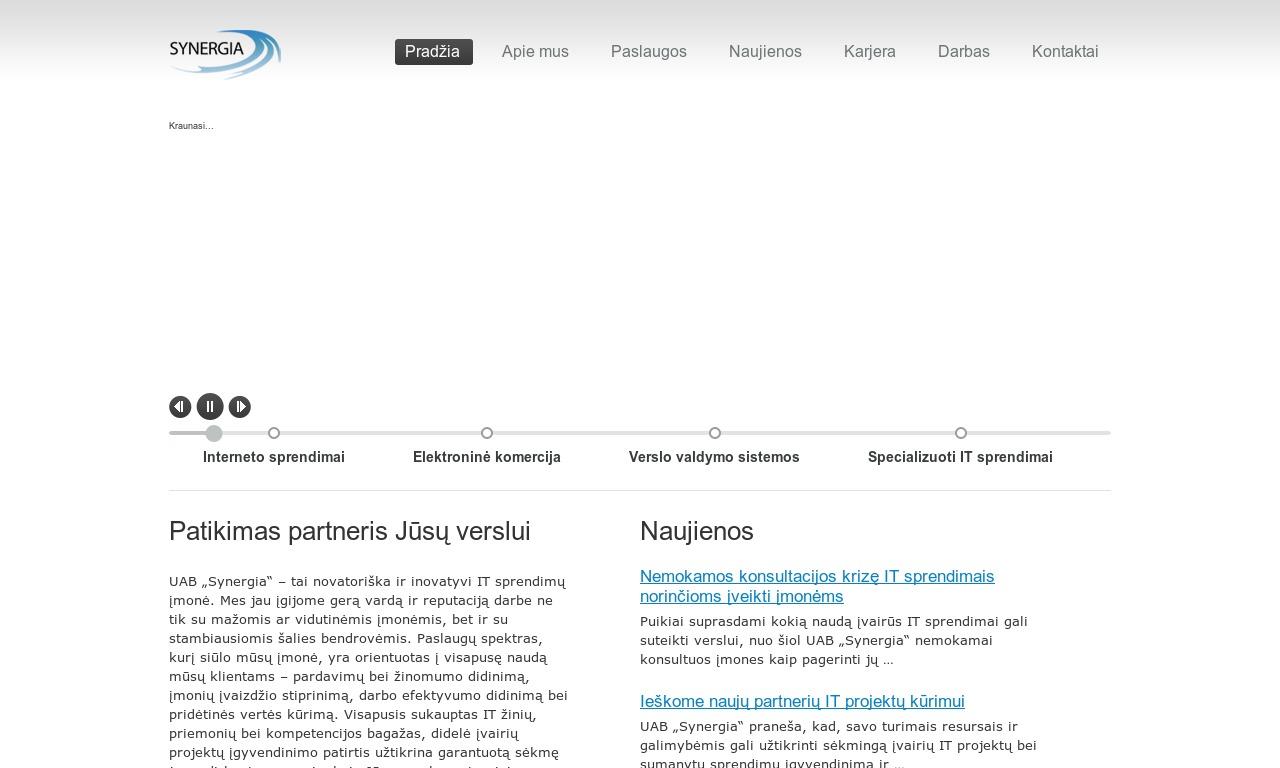 UAB Synergia - IT Sprendimai, Programavimas, Web Dizainas