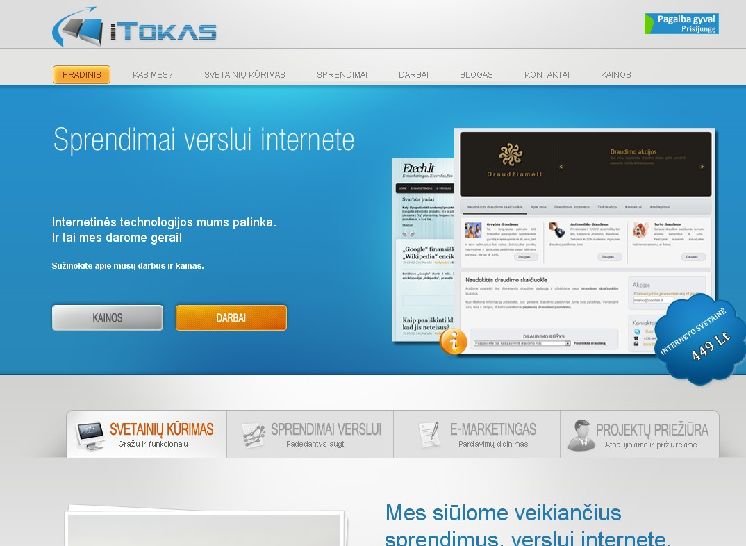 iTokas - sprendimai verslui internete