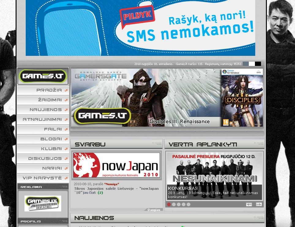 Games.lt - populiariausia IT svetainÄ— Lietuvoje