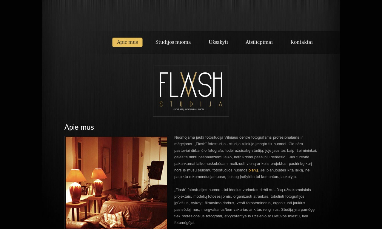 """Flash"" fotostudijos nuoma"