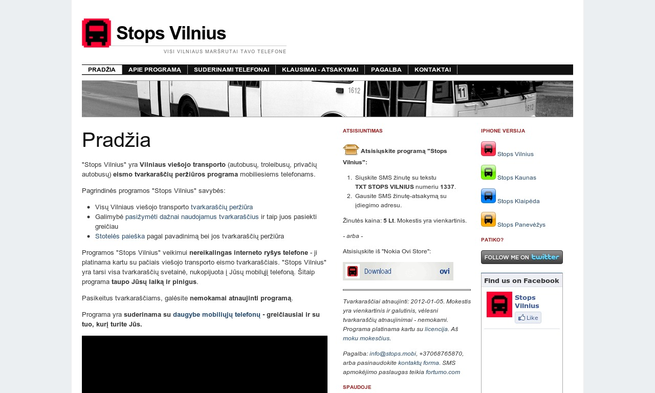 """Programa """"Stops Vilnius"""""""