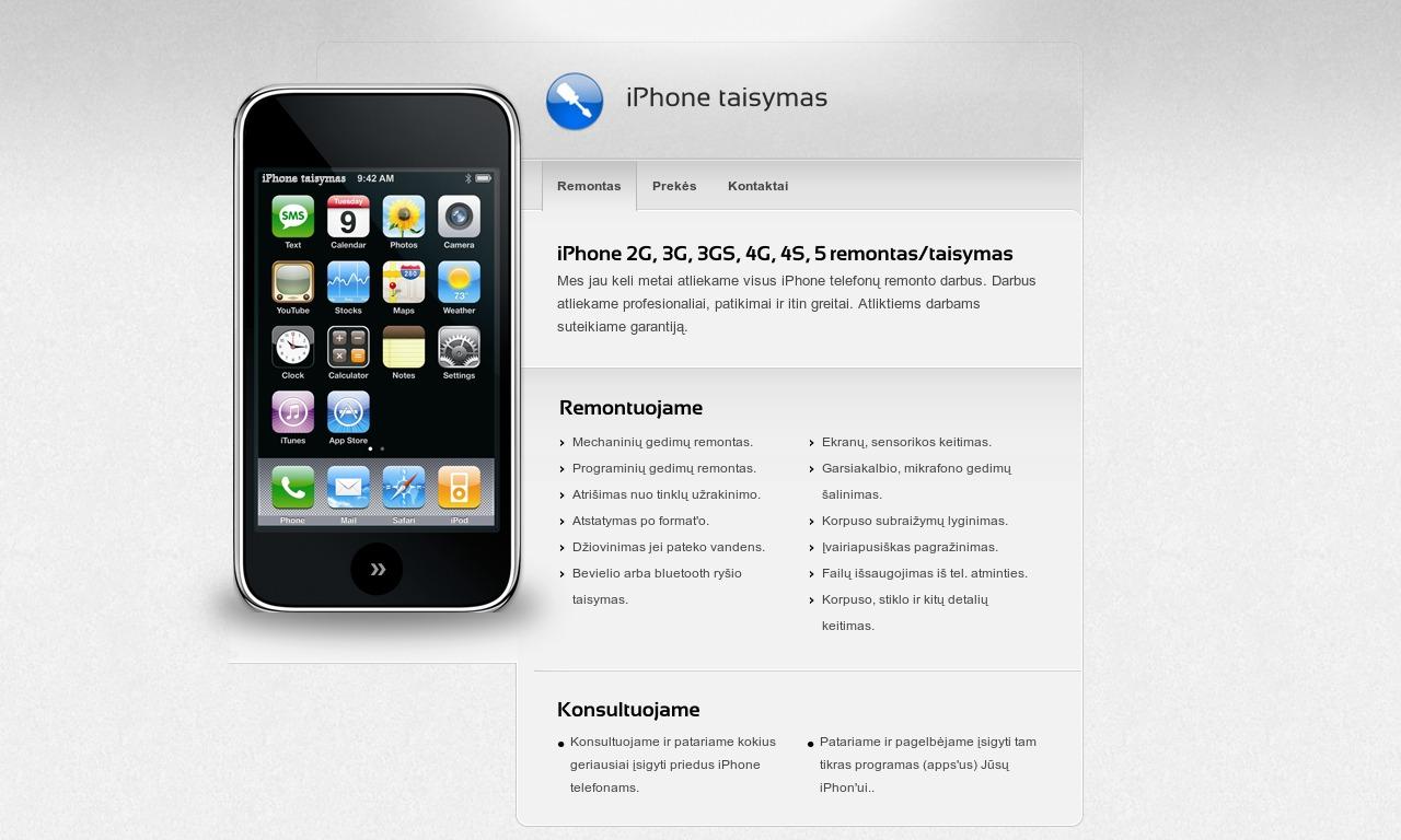 iPhone taisymas / remontas