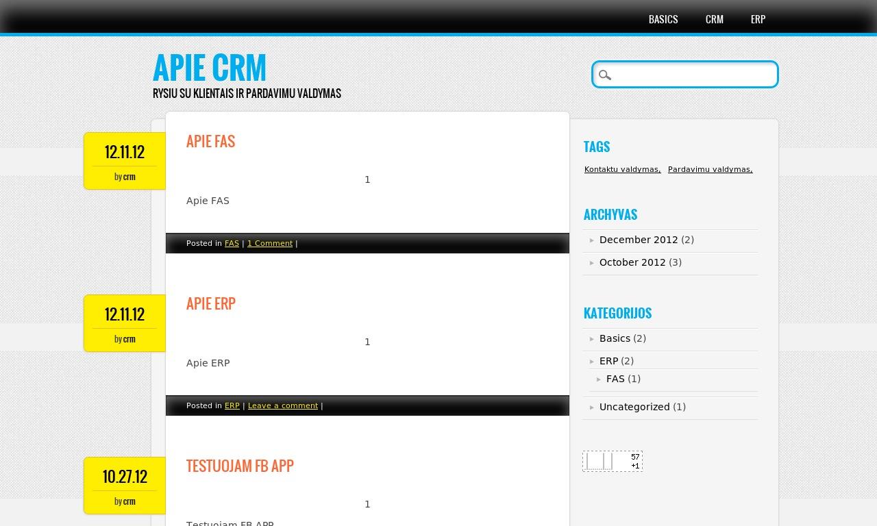 CRM Blogas