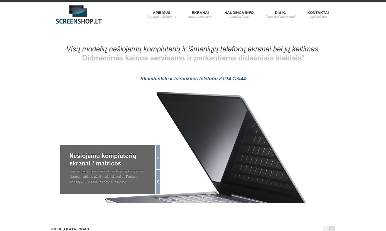 Screenshop.lt - nešiojamų kompiuterių ekranų matricos