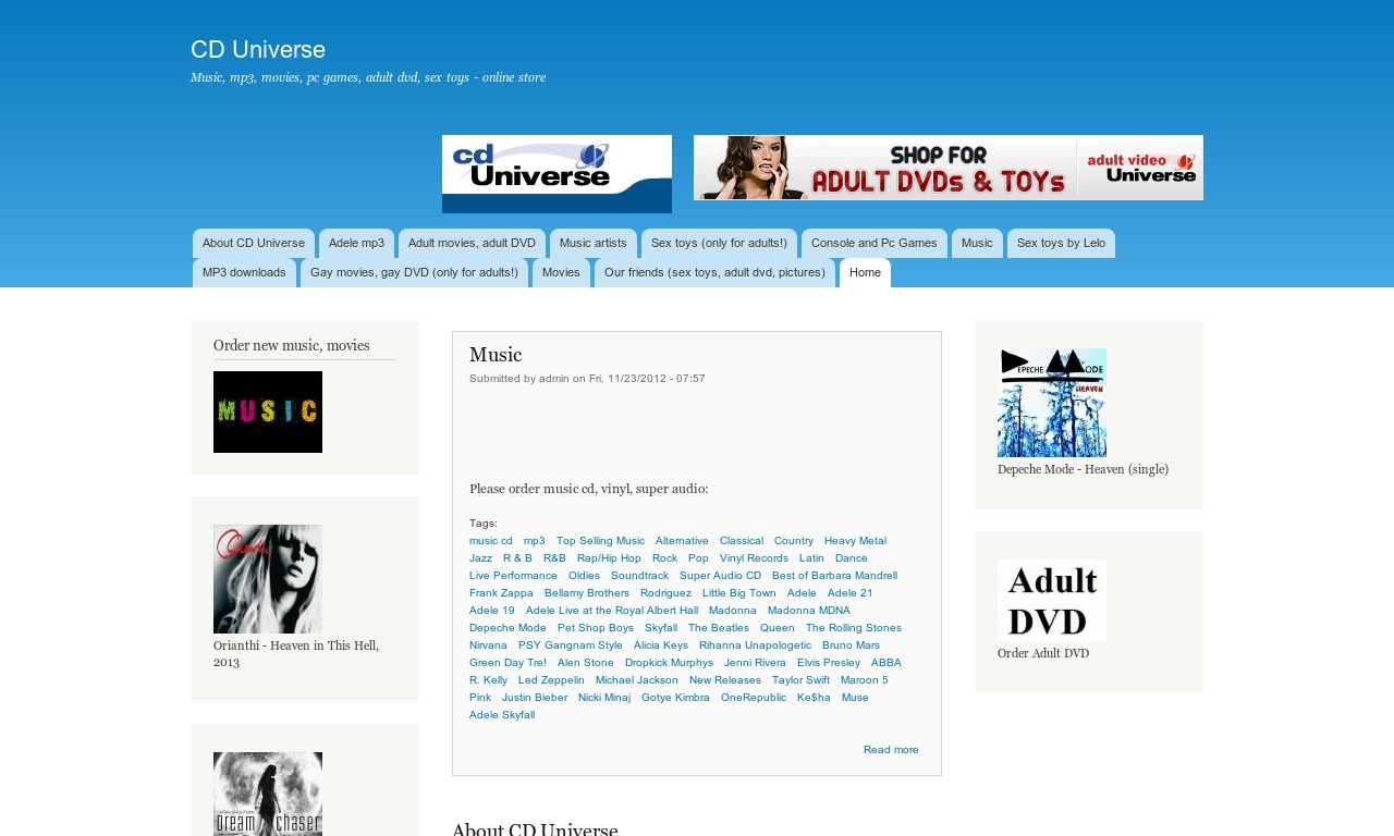 Cd Universe Your Online Music And Movie Store Hd 1280x768