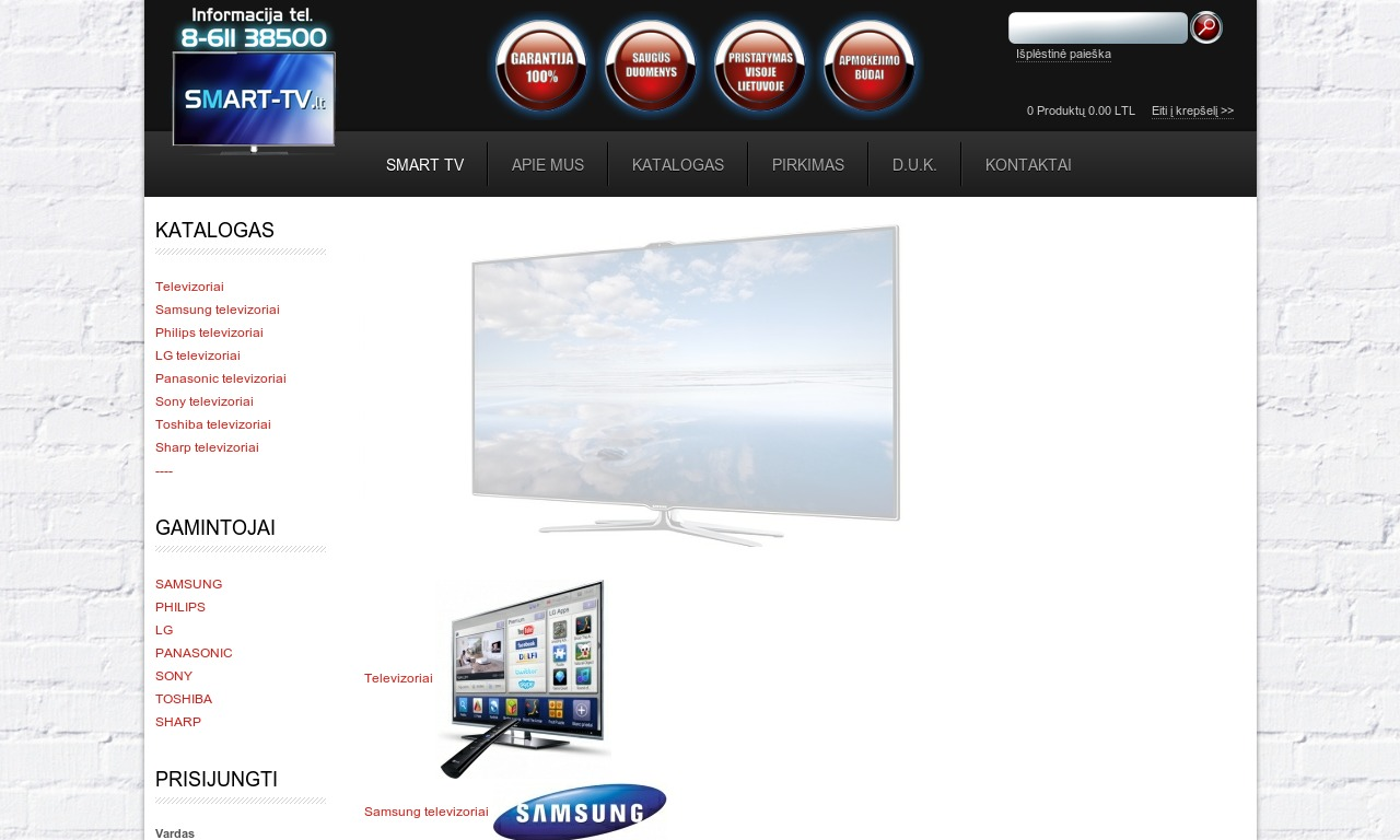 Televizoriai Smart TV