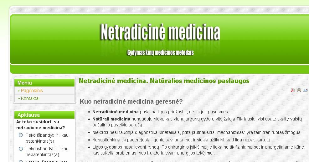 Gydymas kinu medicinos metodais