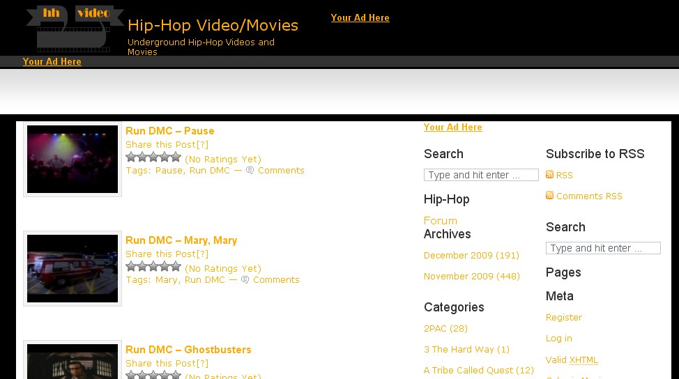 Hip-Hop Video and Movies